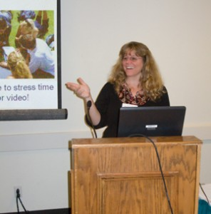 ESL teacher Kari Tudman presenting at CATESOL conference