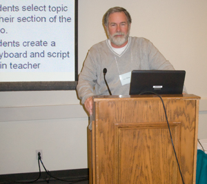 Los Angeles advertising photographer Lee White presenting at CATESOL conference.