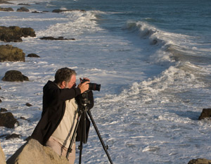 New Canon 7d camera used by Los Angeles photographer Lee White to shoot video along California coast.